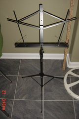 Black Collapsible Music Stand with carry case by Nomad Stands in Orland Park, Illinois