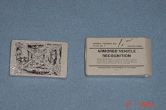 US Army Armored Vehicle Recognition Cards May 1987 in Westmont, Illinois