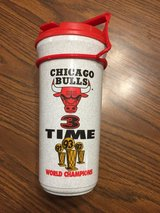 Vintage Chicago Bulls 3 Time World champions Beverage Cup - 1993-94 Season in Aurora, Illinois