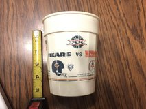 Chicago Bears vs. Patriots - NFC Champions 1985  Super Bowl XX plastic cup in Aurora, Illinois
