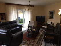 Real Black Leather 3 piece Couch set in Spangdahlem, Germany