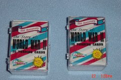 2 WWII Trading Card Sets 50th Anniversary in Glendale Heights, Illinois