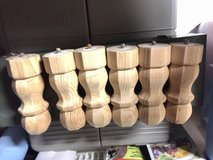 "6"" Unfinished Wooden Table Leg, Coffee Table Sofa Couch Furniture Feet in Joliet, Illinois"