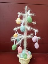Easter tree decoration in Joliet, Illinois