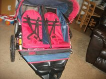 Double stroller red in Fort Campbell, Kentucky