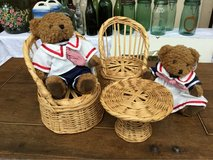 Sunkid Bears with Wicker Table & 2 Chairs in Ramstein, Germany