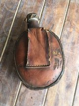 Antique Metal Canteen Wrapped in Leather - WW 1 or 2 in Stuttgart, GE