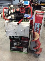 Earthquake power heads/two and auger - reduced in Conroe, Texas