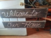 Sign for the home in Alamogordo, New Mexico