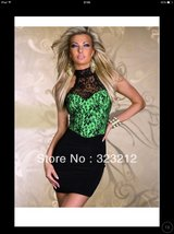 Black/green lace dress in Lakenheath, UK