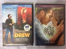 2 DVD Set: The Best of Me (James Marsden) & My Date with Drew (Drew Barrymore) in Travis AFB, California