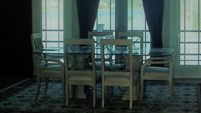 Drexel Heritage Contemporary Glass Dining Table in Camp Lejeune, North Carolina