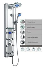 "Blue Ocean 52"" Aluminum Shower Panel Tower with Rainfall Shower Head, 8 Mist Nozzles in Lockport, Illinois"