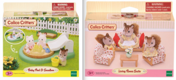 New! Calico Critters Sets ~ Pool -OR- Living Room Set in Orland Park, Illinois