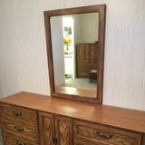 Dresser with mirror and two nightstands in The Woodlands, Texas