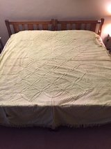 Vintage Chenille Bedspread Lime Green in Plainfield, Illinois