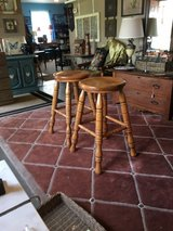 """Wood stools 2 15 1/2 wide 29"""" tall no scratch in Cleveland, Texas"""