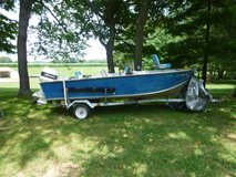 16 ft boat  with trailer & 70HP Johnson. in Fort Campbell, Kentucky