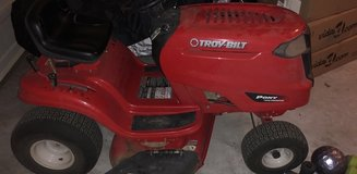 Riding lawn mower in Fort Bliss, Texas