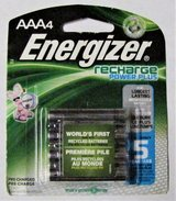 AAA Recharge Energizer Batteries Power Plus 4 Pack 1.2V 800 mAh NiMH in Fort Lewis, Washington