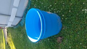 blue tubs for planting  or feeding in Leesville, Louisiana