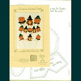 1988 HALLOWEEN PUMPKINS and WITCH Sew/Decorate Door, Garland+ Pattern Pk in Glendale Heights, Illinois