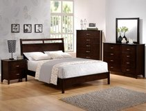 SALE! ALL MUST GO! BRAND NEW! QUALITY URBAN WOOD QUEEN ESPRESSO BED SET in Camp Pendleton, California