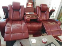 Red sofa with two recliners and more. Must go in Conroe, Texas