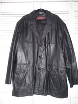 Men's Black Genuine Leather Coat -- Sz 4XL Tall in Tinley Park, Illinois