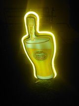 Beautiful neon Light beer sing in Fort Campbell, Kentucky