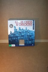 GLASS CHESS AND CHECKER SET in Yorkville, Illinois