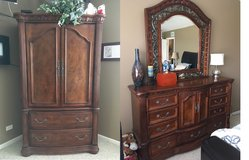 Darvin Armoire, Dresser with mirror and End Table in Plainfield, Illinois