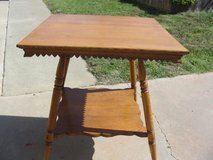 Antique Solid Oak Lamp Table in Camp Pendleton, California