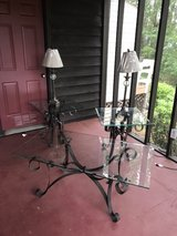 Wrought Iron Coffee table, 2 End Tables in Byron, Georgia