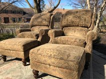 : ) 2 WALTER E SMITHE RECLINERS W/OTTOMANS in Glendale Heights, Illinois