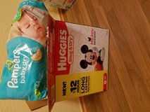 Box of diapers and swimmers (N, 1's, and 2's) over 200 in Ramstein, Germany