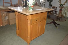 Tall Kitchen Island with solid granite top in Fort Lewis, Washington