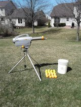Rechargeable Zooka Pitching Machine and Balls in Lockport, Illinois
