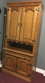 Genuine rustic style ' Schrank' room storage wall extension made in Belgium with solid oak........ in Fort Drum, New York