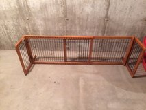 Wood and metal dog gate in Oswego, Illinois
