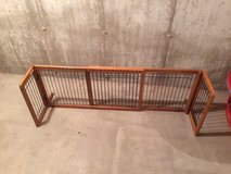 Wood and metal pet gate in Oswego, Illinois