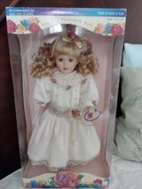 Collectible porcelain doll in box in The Woodlands, Texas