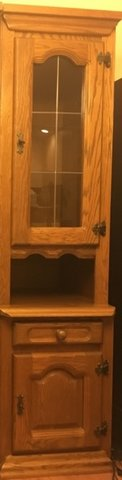 Genuine rustic style 'Schrank' room storage wall unit made in Belgium, with solid oak front ....... in Fort Drum, New York