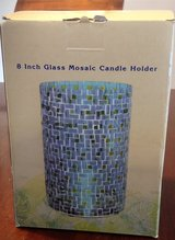 NEW 8 inch glass Mosaic Candle Holder pretty in Fort Riley, Kansas