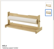 ikea table top paper holder with paper in St. Charles, Illinois