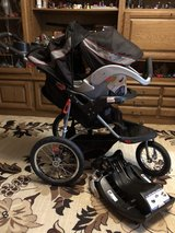 Jogging stroller with car seat and base TUV 2021 in Ramstein, Germany