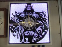 Darth Vader - Star Wars  Handcrafted LED Silhouette LP Clock in Cherry Point, North Carolina