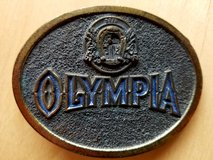 Vintage Olympia Beer Belt Buckle in Stuttgart, GE