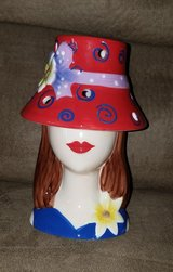 Red Hat Society Home Interiors Tea Light Candle Holder Lamp Diva Girl in Moody AFB, Georgia