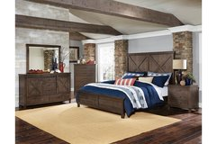 """NEW! UPSCALE QUALITY SOLID WOOD """"BARNYARD"""" QUEEN BED SET! in Camp Pendleton, California"""